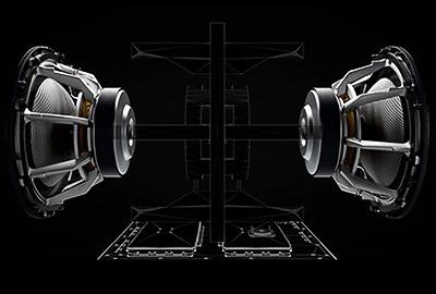 Haut parleurs symétriques