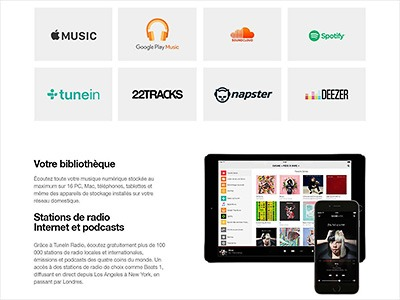 Apple Music Spotify et plus de 30 autres services disponibles