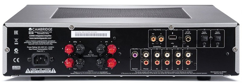 Cambridge Audio CXA60 arrière full