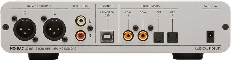 Musical Fidelity MX DAC arrière 1