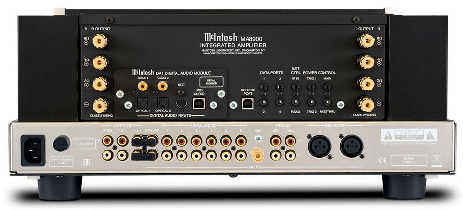 amplificateur Mcintosh MA 8900 connection