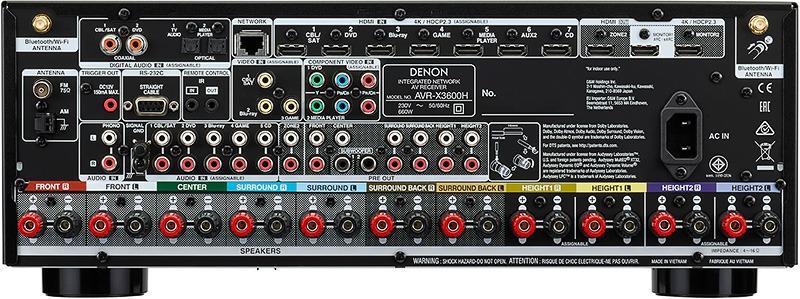 Denon AVR X3600H arriere