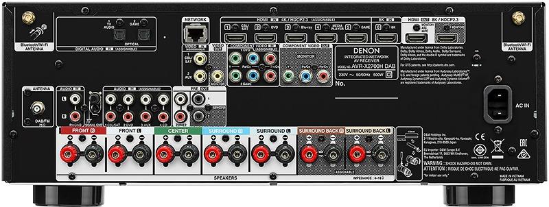 Denon AVR-X2700H DAB Connexions