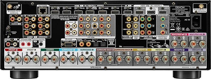 Denon AVC X6700H Connectique