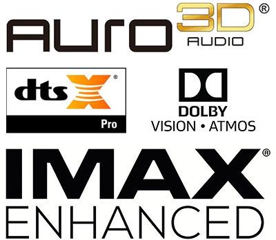 Dolby Vision Atmos Imax Enhanced DTS X Pro Auro 3D