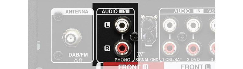 Entrée Phono pour platine vinyle 2
