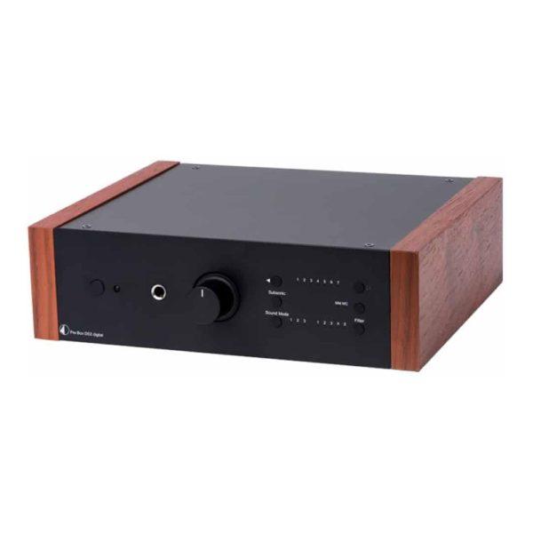 Phono Box DS2 USB noir bois de rose