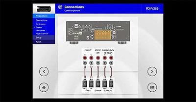 Yamaha RX V6A configuration AV
