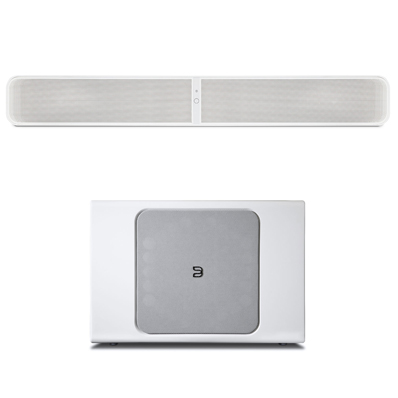 Bluesound pulse soundbar sub plus blanc