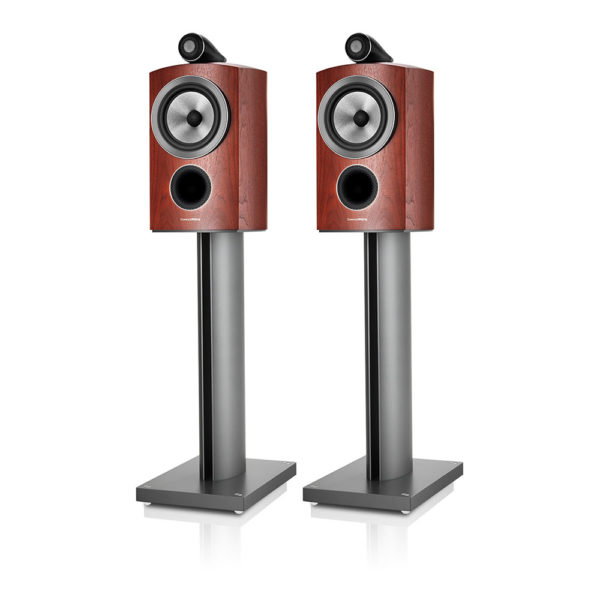 Bowers Wilkins 805D3 Rosenut stand silver